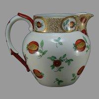 """JP Limoges Floral Design Pitcher (Signed """"ZDC""""/Dated 1902)"""