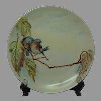 "Austria Princess Louise Porcelain Bluebird Design Plate (Signed ""H. Scott""/Dated 1913) - Keramic Studio Design"