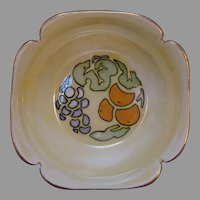 "Porcelain Blank Lustre & Fruit Design Bowl (Signed ""E.D. Pindar""/c.1909-1930's) - Keramic Studio Design"
