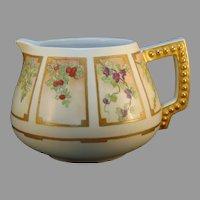 Bavaria Porcelain 'Fruit in Panels' Design Pitcher (c.1910-1930's)