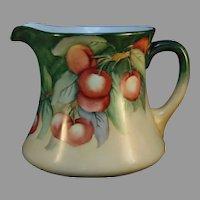 "WG&Co. Limoges Crab Apple Design Pitcher (Signed ""A.L. Conover""/c.1900-1930's) - Keramic Studio Design"