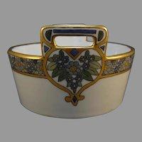 """O&EG Austria Enameled Floral Design Dish/Bowl (Signed """"A.S.""""/Dated 1916)"""
