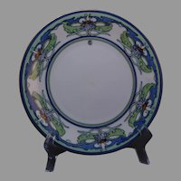 Hutschenreuther Favorite Bavaria Arts & Crafts Floral Design Plate (Signed/c.1910-1930's) - Keramic Studio Design