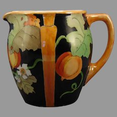 "Classio Bavaria Lustre Gourd/Fruit Design Pitcher (Signed ""Bess Jones""/c.1910-1930's)"