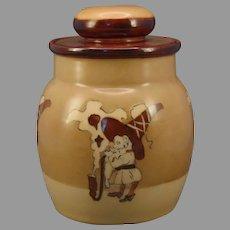 """P&L Austria """"Elf/Gnome with Pipe"""" Design Humidor (Signed/Dated 1914) - Keramic Studio Design"""