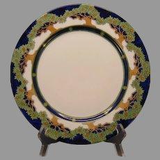 "Limoges ""Mark 6"" ""Orange Tree"" Design Plate (Signed ""J.E.C.""/c.1904-1920) - Keramic Studio Design"