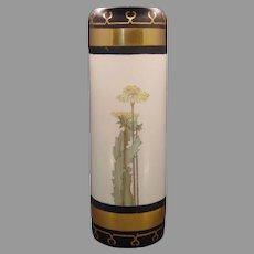 """PH Leonard Austria Dandelion Design Vase (Signed """"Amelia Cook""""/c.1915-1930's) - Keramic Studio Design"""