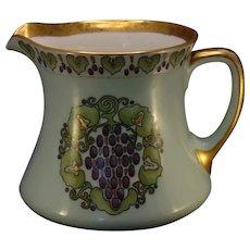 "Royal Bavaria ""Grape & Leaf Motif"" Pitcher (Signed ""Price""/c.1917-1930's) - Keramic Studio Design"