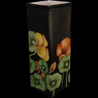 "Epiag Czechoslovakia Nasturtium Design Vase (Signed ""Nellie""/Dated 1930)"