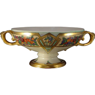 "Rosenthal Selb Bavaria Fruit Design Centerpiece Bowl (Signed ""L.W.H.""/Dated 1922)"