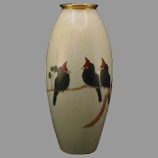 B&Co. Limoges Bird Design Vase (c.1904-1930's) - Keramic Studio Design
