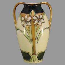 RS Germany Floral Design Vase (c.1911-1930's) - Keramic Studio Design
