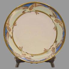 "Hutschenreuther Selb Bavaria Seagull/Bird Design Plate (Signed ""E.E.""/c.1910-1930) - Keramic Studio Design"