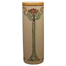 B&Co. Limoges Art Deco Zinnia Floral Design Vase (c.1915-1930's) - Keramic Studio Design