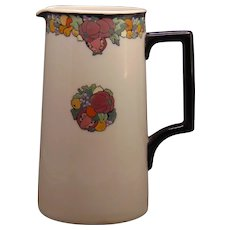 "Lenox Belleek Enameled Fruit Design Pitcher (Signed ""E.K.""/c.1910-1930's)"