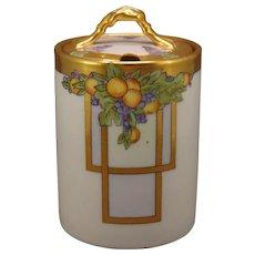 Germany Porcelain Fruit Design Condiment Jar (c.1910-1930's)