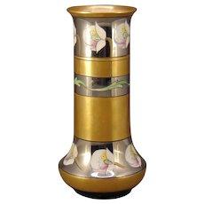 """Pickard Studios """"Poppies & Platinum"""" Design Vase (c.1905-1910)"""
