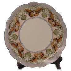 """Limoges """"Mark 6"""" Butterfly Design Plate (Signed """"Cheney""""/Dated 1904) - Keramic Studio Design"""