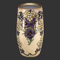 Ernst Wahliss Amphora Austria Enameled Floral Design Vase (c.1899-1918)