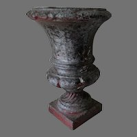 Antique Victorian Cast Iron Garden Urn, Planter