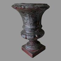 Antique Victorian Cast Iron Garden Urn, Planter