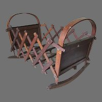 Antique Circa 1873 Folding Doll Cradle by Fenner & Co, CT