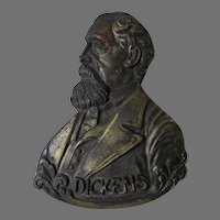 Antique Charles Dickens Paperclip, Letter Holder, Desk Accessory