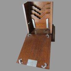 Antique Edwardian English Oak Letter Box, Writing Desk