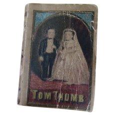 Antique c1845 Miniature Book, The Life of General Tom Thumb, Moore & Nims