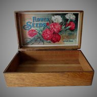 Antique D M Ferry & Co Advertising Flower Seed Box, Garden