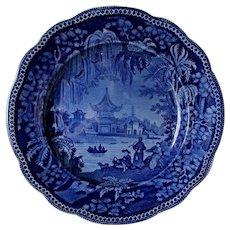 Antique Clews Pekin Pattern Weeping Willow English Transferware Plate