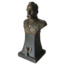 Antique World War I Bust of a Military Figure, World Leader