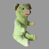 Adorable Vintage c1930s Green Mohair Teddy Bear