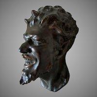 Antique Satyr, Bacchus Head Sculpture, Mask