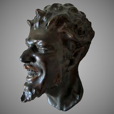 Antique Satyr, Bacchus Head Sculpture, Mask