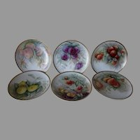Antique Hand Painted French Haviland Limoges Plates with Fruit, Signed