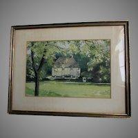 Watercolor Painting Johann Wolfgang von Goethe Garden House, Weimar