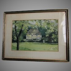 Watercolor Painting Johann Wolfgang von Goethe Garden House, Weimar