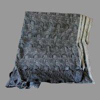 7 Yards Vintage Paisley Fabric, Unused, VG Condition