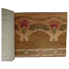Rare Circa 1917 Arts & Crafts, Edwardian Wallpaper Sample Book, Alfred Peats