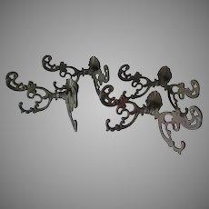 Set 4 Antique Art Nouveau Coat Hooks, Hall Stand, Coat Tree Hangers