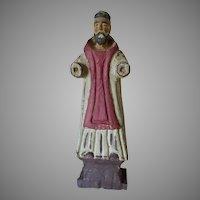 Vintage Christian Santos, Hand Carved Folk Art, Spanish Religion