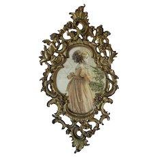 Antique 19th Century Victorian French Rococo Picture Frame, Cherub Angels
