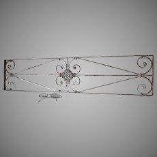 Antique Art Nouveau Wrought Iron Architectural Panel