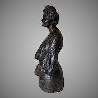 Antique Bronze Sculpture of a Matriarch, Hermann Steiner