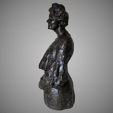 Antique Bronze Sculpture of a Matriarch, Hermann Steiner