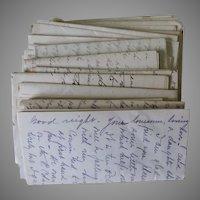 75 Love Letters Circa 1915-1916, Correspondence, Hand Written