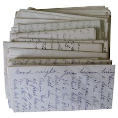 75 Love Letters Circa 1915-1916, Correspondence, Hand Written