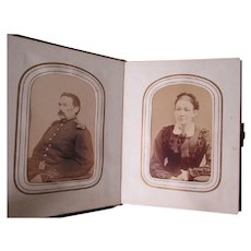Family Civil War Album with Navy, Naval Officer CDV, Case & Getchell