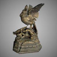 Antique Circa 1880s Sculpture of a Bird, Victorian